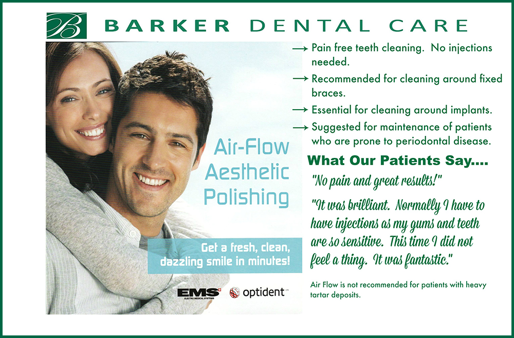 Barker Dental Care Air Flow Poster