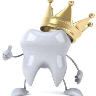 Tooth With Gold Crown 2 320x320